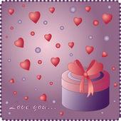 Vector valentine kaart — Stockvector