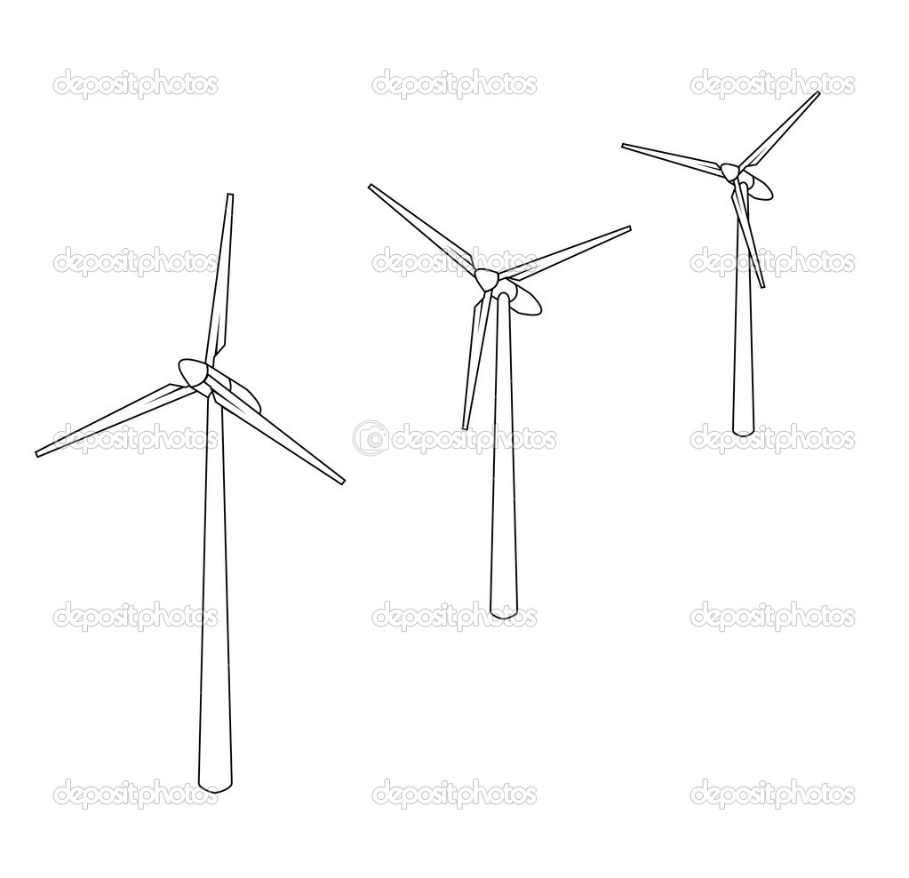Vector windmill — Stock Vector #2736575