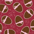 Seamless wallpaper pattern with eggs — Stock vektor