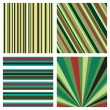 Stock Vector: Four striped background pattern