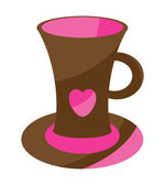 Vector cute cup with heart — Stock Vector