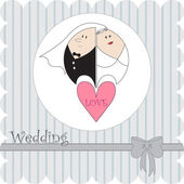 Wedding card — Stockvector