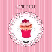 Vektör çizim kart ile muffin — Stok Vektör