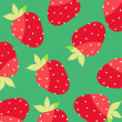 Seamless wallpaper with strawberries — Stock Vector