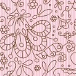 Pink vintage seamless pattern — Stock Vector