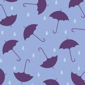 Seamless wallpaper with umbrellas — Stock Vector