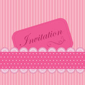 Vector pink invitation — Stock Vector