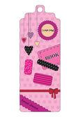 かわいいピンクのブックマーク — ストックベクタ