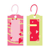 Two cute vector bookmarks — Stock Vector