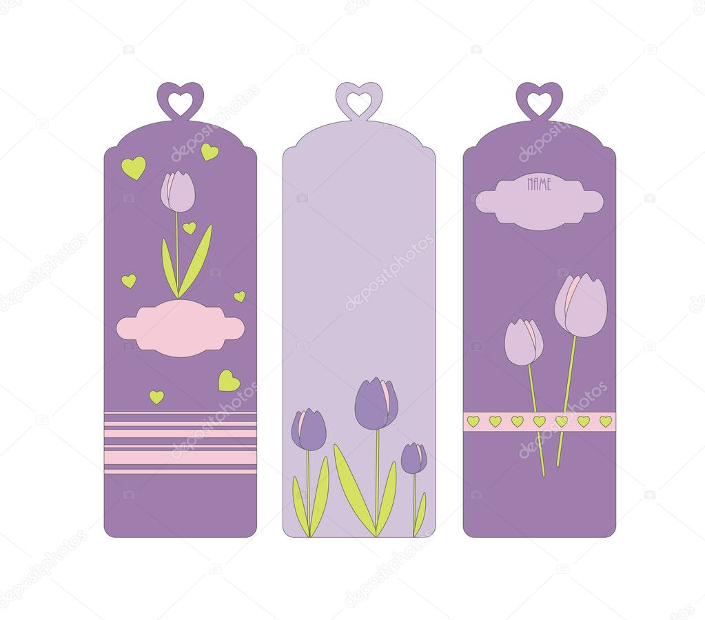 Three vector bookmarks — Stock Vector #3513986