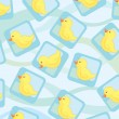 Stockvector : Seamless wallpaper with cute ducks