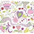 Vector floral doodles — Stock Vector