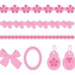 Vector pink scrapbook elements — Stock Vector #3556162