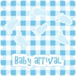 Royalty-Free Stock Vector Image: Vector card for baby boy