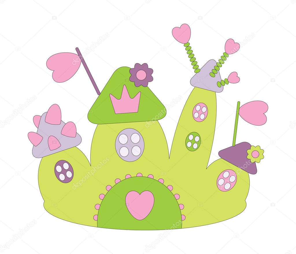 Vector illustration of funny castle — Stock Vector #3689702