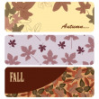Vector autumn banners — Stock Vector