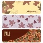 Vector autumn banners — Stock Vector