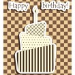 Birthday cake — Image vectorielle