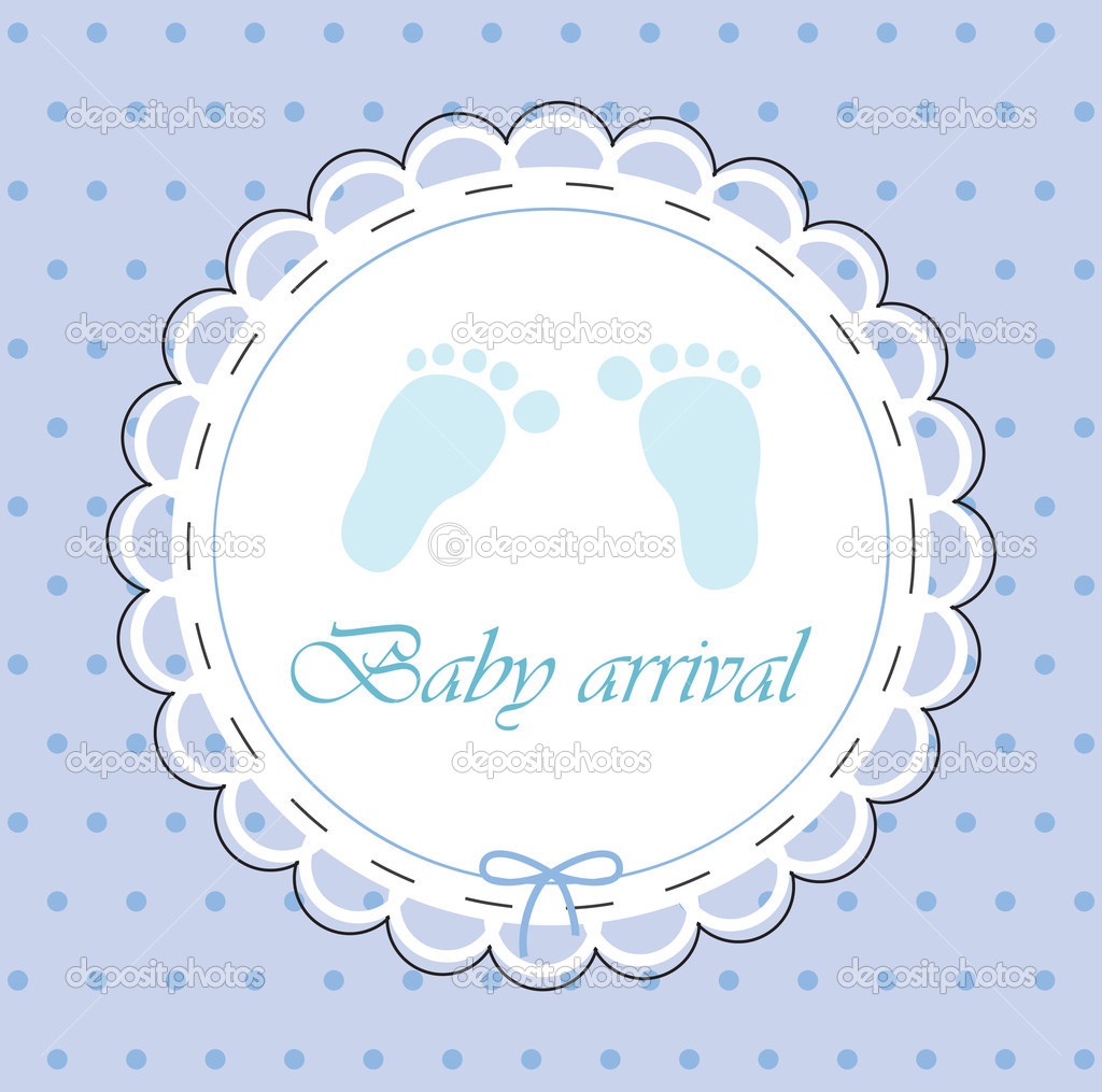 Vector card for baby boy  Stock Vector #3891678