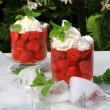 Strawberry sundae — Stock Photo