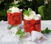 Strawberry sundae — Stock Photo