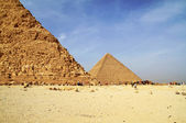 Small Cheops pyramid - Egypt — Stock Photo