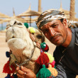 Camel owner portrait — Stock Photo
