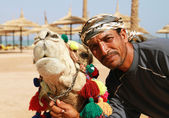 Camel owner portrait — Stock Photo
