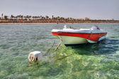 Motor boat in Sharm el Sheikh — Stock Photo