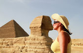 Kiss with the Sphinx — Stock Photo