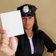 Ticket from sexy police woman — Stock Photo