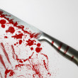 Stock Photo: Blood spattered knife
