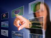 Touchscreen-wahl — Stockfoto