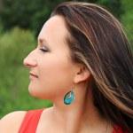 Outdoor brunette portrait — Stock Photo #3432620