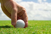 Winning in golf — Stock Photo