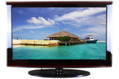 High-definition tv — Stockfoto