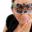 Beautiful woman with mask — Stock Photo #3788785