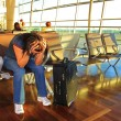 Stock Photo: Awaiting for a late plane