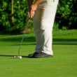 Stockfoto: Putting golf ball