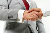 Handshake in business — Stock Photo