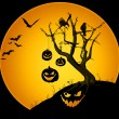 Creepy halloween scenery — Stock Photo