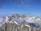 Cumbres de las montañas de los alpes — Foto de Stock