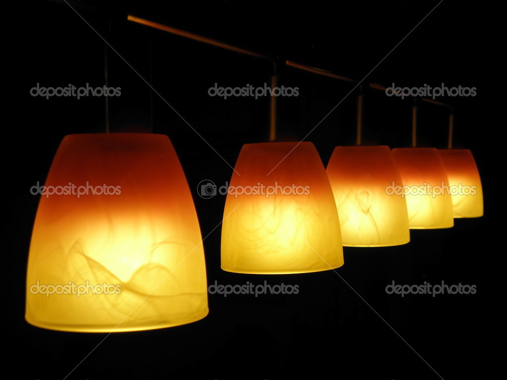 Lamps in the dark  Stock Photo #3010683