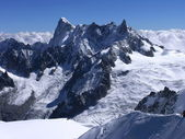 View from the Aiguille du Midi — Stockfoto