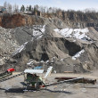 Mining in the quarry - Stockfoto