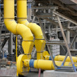 Steel pipes and conveyors - Stock Photo