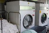 Laundromat dryers — Stock Photo