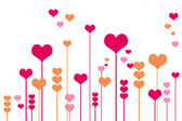 Vector background with hearts — Stockfoto