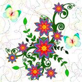 Blumen. vektor-illustration — Stockfoto
