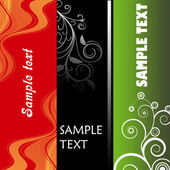 Three decorative banners or label — Stock Photo